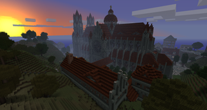 Cathedral at Sunset by phonophobie