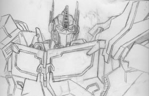 TF Sketches: Optimus Prime by Trans-Crystal