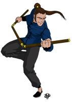 Kung Fu Guy in color by Heltron
