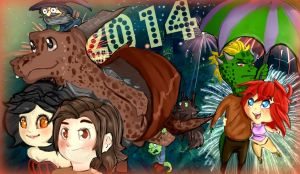 Fat Dragon New Year by ForgetMorals