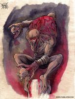face-hands monster by FASSLAYER