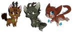 Caster kitty chibis by jealousapples