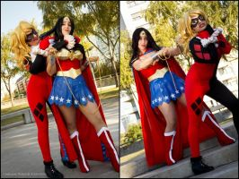 Wonder Woman vs Harley Quinn by Neferet-Cosplay