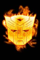 Autobots logo on fire by elic22