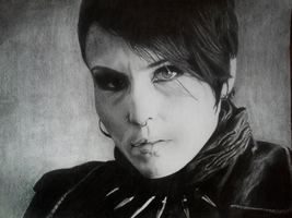 Noomi Rapace as Lisbeth Salander portrait by Bansheeek