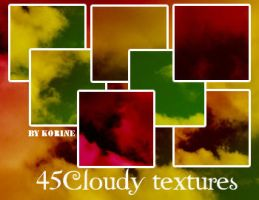 45 Cloudy Textures by KorineForever