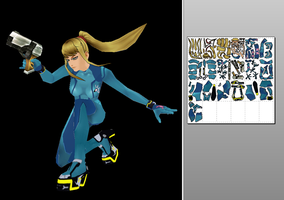 Zero Suit Samus Papercraft by Sabi996