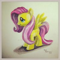 Fluttershy Toy Drawing by PencilRick