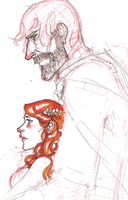 Sandor and Sansa by hedgehog-in-snow
