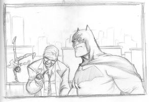 Batman sketchy by BrattyBen