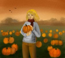 Pumpkin harvest by Syudzius-san