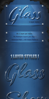 Amazing 1 Layer Glass Text Styles and Effects by Divirta06