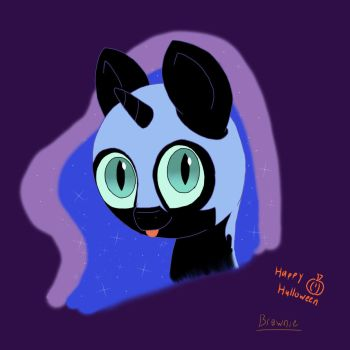 Chibi nightmare moon (Halloween) by Biggysam7