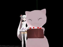 Mew you know the cake is a LIE by namine200
