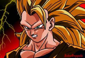 SSJ3 Goku - Angry by JohnSeppala