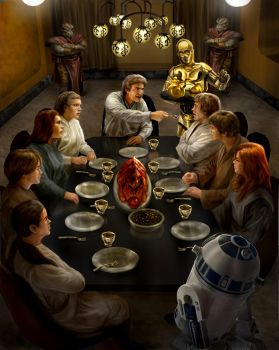 Solo Skywalker family dinner... by chrisscalf