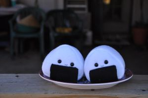 Fat Onigiri Plushies by Love-Who