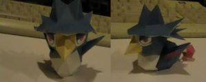 Chibi Honchkrow papercraft by NinjaKirby144