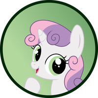 Sweetie Belle Button by MLP-Buttons-R-Us
