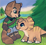 Sabre and Tricky by foxtribe