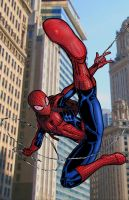 Ultimate Spider-man color by BanebrookStudios