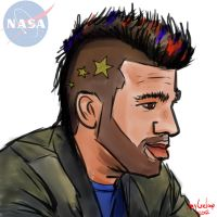 Bobak Ferdowsi the NASA mohawk guy by jayceeloop