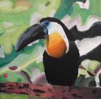 Toucan painting by BossHossBones