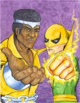 Powermand and Iron Fist by artildawn