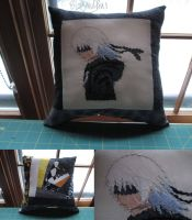 Riku Pillow (commission for Nicole Starling) by Blargmuffins