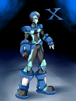 megaman x en tableta by RakinTor