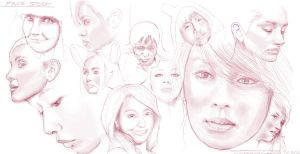 _women face study_1 by dimodee