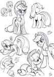 Sketchbook Ponies 07-07-13 by subtlePixel