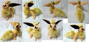 Shiny Flareon plushie by Rens-twin