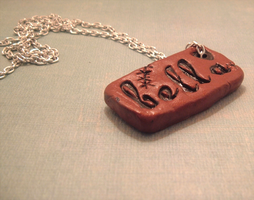 Stamped Bella Pendant by SweetButEvil