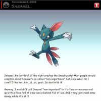 Newcomer: Sneasel by ArcaneJudgment
