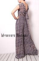 Black White Checked Jumpsuit15 by yystudio