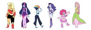 My Little Crystal Gems by kilala97