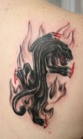 Old School Panter TaT by 2Face-Tattoo