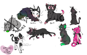 Adoptable Litter - Ami and Rainbow (cl) by Elvaneyl