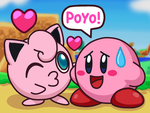 Jigglypuff Kiss Kirby by Kittykun123