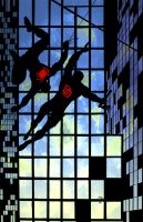 Daredevil Spiderman Frank Miller 1 by Shadowrenderer