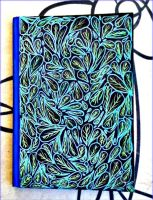 Blue Leaves Lined Notebook by AryiaCassandra