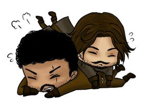 Chibi Porthos and Aramis by SlyShinie
