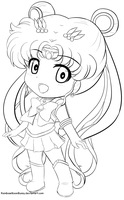Sailor Moon F2U Line art by RainbowMoonBunny