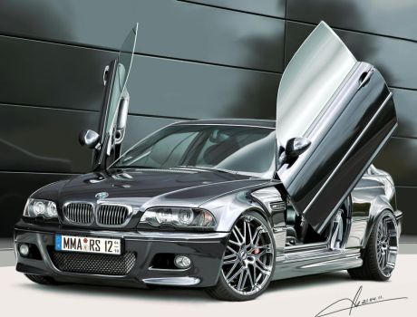 BMW M3 E46 Coupe Tuned by m-a-p-c