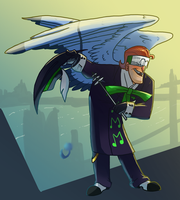 Winged Music meister by pink-ninja
