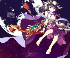 Puzzle and Dragrons - Nocturne Chanter, Tsukuyomi by nnnnoooo007
