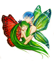 Vocaloid: Butterfly Couple by hana-tox