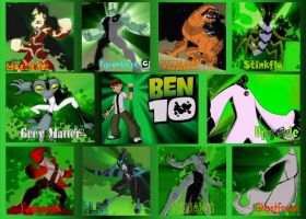 Ben 10, the original 10 aliens by Cyborgchimp