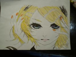Rin Kagamine Butterfly On Your Right Shoulder by annaxichigo